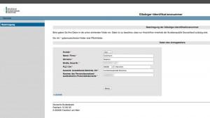 Gläubiger-ID-Antrag