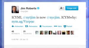 Jim Roberts Twitter-Meldung
