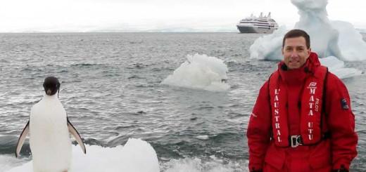 Franz Neumeier auf Expeditionskreuzfahrt in der Antarktis