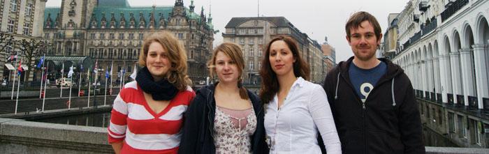 Anja-Katharina Riesterer, Signe Heins, Isabella David, Dominik Brück (v.l.)