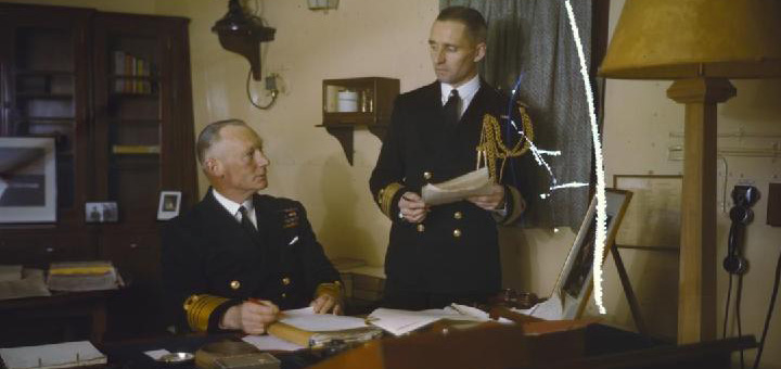 Commander in Chief Home Fleet, Admiral Sir John Tovey on Board HMS King George V, November 1942 - by Royal Navy official photographer [Public domain or Public domain], via Wikimedia Commons