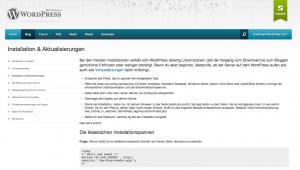 Installationshilfe auf der deutschen WordPress-Webseite