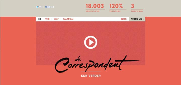 Webseite von de Correspondent