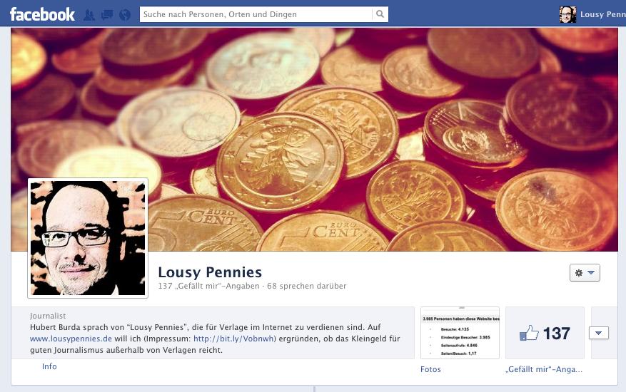 LousyPennies auf Facebook