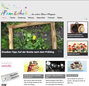 Familiothek: Claudia Minkes Webseite für Eltern