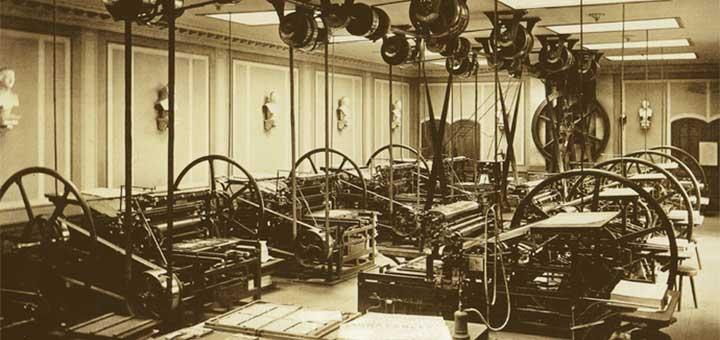 Druckerei des Westermann-Verlages, um 1890