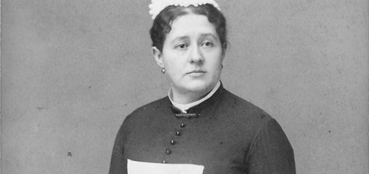 Unidentified woman in maid's uniform. Date on photo, 1884. U.S. National Archives and Records Administration via Wikimedia