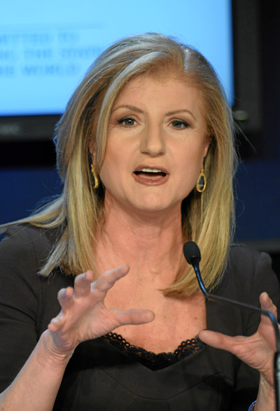 Arianna Huffington By World Economic Forum [CC-BY-SA-2.0 (http://creativecommons.org/licenses/by-sa/2.0)], via Wikimedia Commons