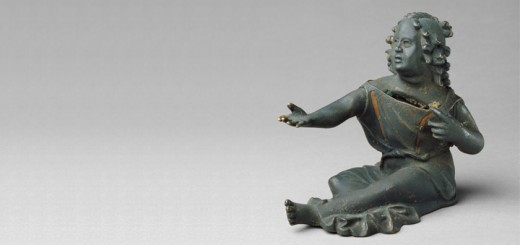 Coin Bank Shaped as a Beggar Girl, about 25 - 50, Bronze, copper inlay. The J. Paul Getty Museum, Villa Collection, Malibu, California