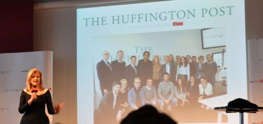 Arianna Huffington und das HuffPost-Team