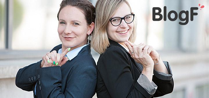 Marlies De Roche und Sylvia Epaillard, Gründerinnen von BlogF