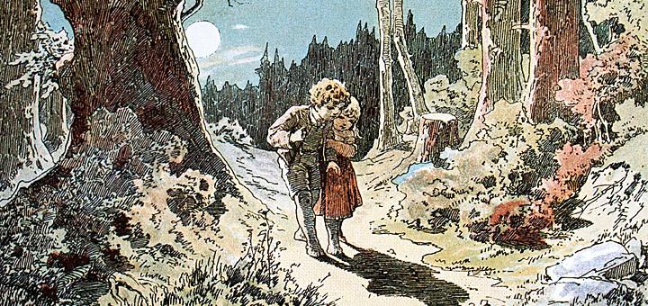Heldenreise: Hänsel und Gretel von Alexander Zick, upload by Adrian Michael (Märchen, Grot'scher Verlag, Berlin 1975) [Public domain], via Wikimedia Commons