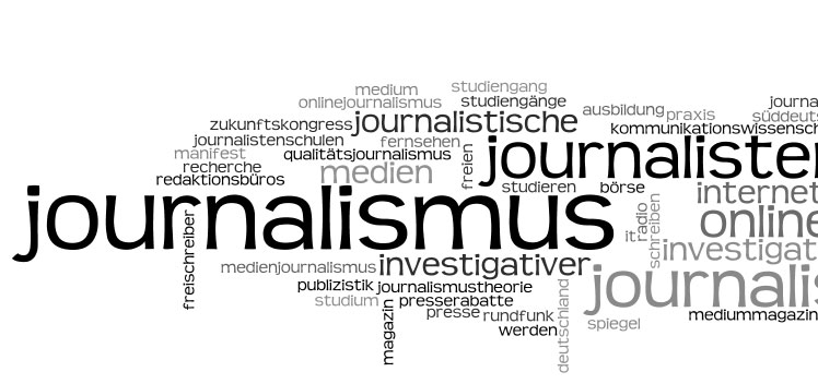 Journalismus-Wordle