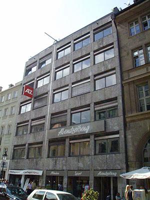 Tafelsilber: Das alte Gebäude der Abendzeitung in der Sendlinger Straße (Foto über Wikimedia Commons)
