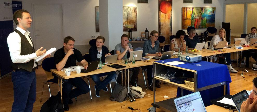 Seminar Bloggen für Einsteiger im Presseclub