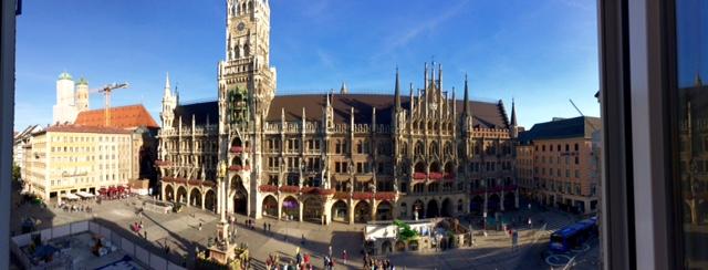 Der Marienplatz in München (Blick vom Presseclub)