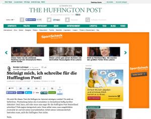 Karstens Artikel bei HuffPo