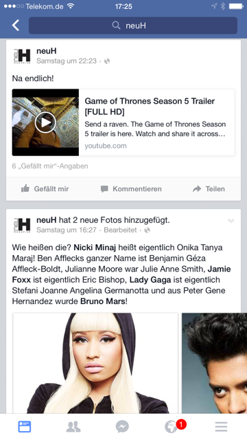 Youtube-Video auf Facebook