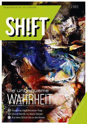Die erste Ausgabe von Shift.