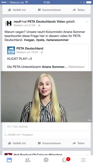 Selbstgehostetes Video auf Facebook