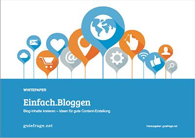 """Whitepaper: """"Einfach Bloggen"""""""
