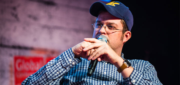 "Sascha Pallenberg bei ""Rock the Blog"". Foto: CeBIT Global Conferences/Dan@heisenbergmedia.com"