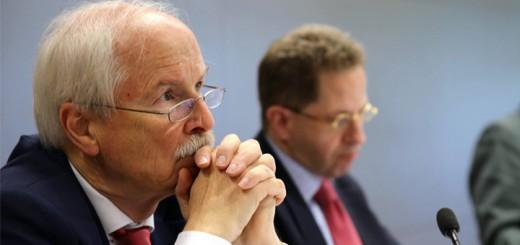 Harald Range und Hans-Georg Maaßen. Bild Richard Gutjahr (CC-BY-NC)