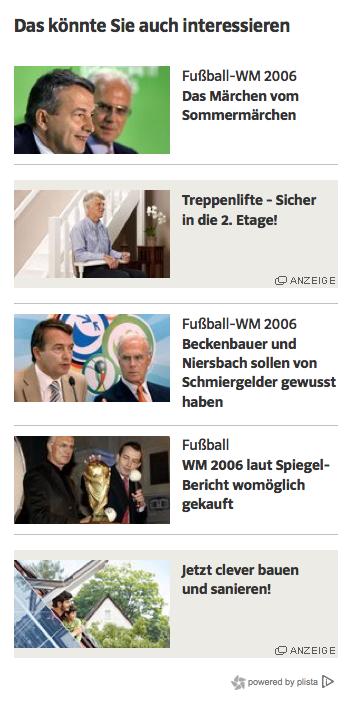 Screenshot Süddeutsche: Da blinkt nichts, ..
